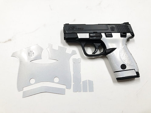 Smith & Wesson Shield 9/40 Pearl White Vinyl Style Gun Grip Wrap Gun Parts Kit