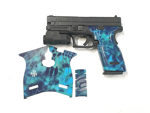 Blue Kryptek Vinyl Style Gun Grip Wrap Gun Parts Kit
