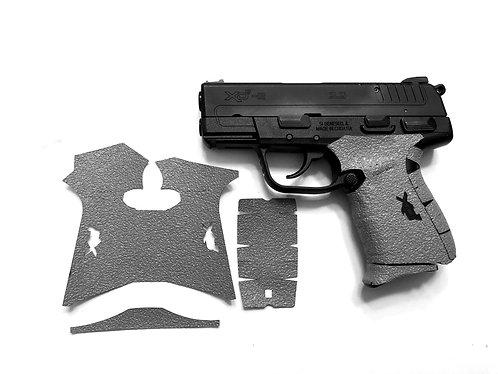 Springfield XDe 9/45 Gray Textured Rubber Gun Grip Enhancement Gun Parts Kit