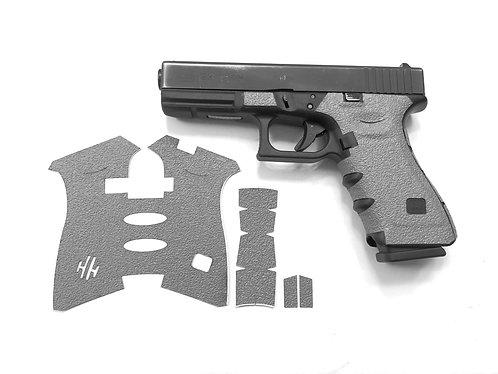 Glock 17/22/34/35 Gray Textured Rubber Gun Grip Enhancement Gun Parts Kit
