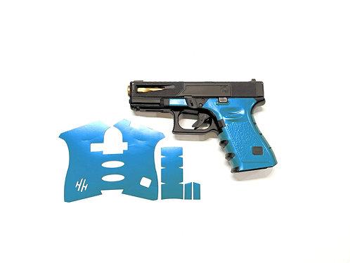Blue / Green Color Shift Vinyl Style Gun Grip Wrap Gun Parts Kit