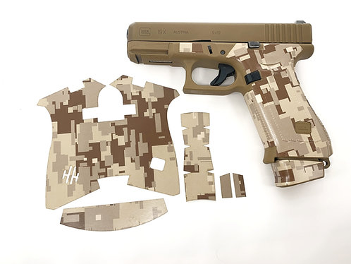 Handleitgrips Brown Digital Camouflage Vinyl Gun Grip for Glock 19x and G45