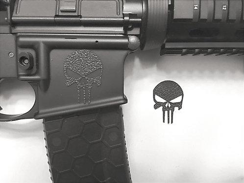 AR 15 Magazine Well Skull Textured Rubber Enhancement Kit ( Kit =  2 skulls)