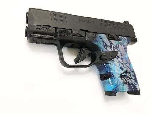 Springfield Hellcat Kryptek Camo Vinyl Style Gun Grip Wrap Gun Parts Kit