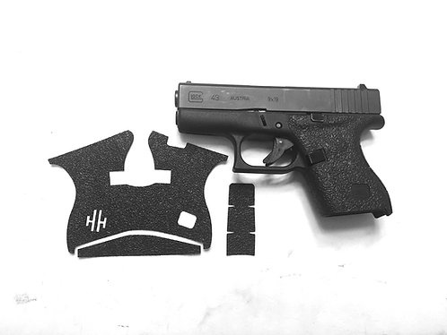 Glock 43 P80 / PF9ss Frame Gun Grip Enhancements Gun Parts Kit