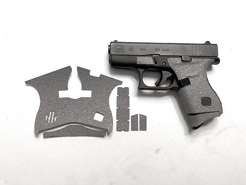 Glock 42 Gray Textured Rubber Gun Grip Enhancements Gun Parts Kit