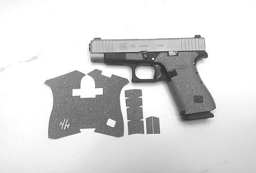 Glock 43x /48 Gray Textured Rubber Gun Grip Enhancement Gun Parts Kit