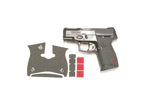 Taurus G2 C Millennium with Red Inserts Gun Grip Enhancement Gun Kit