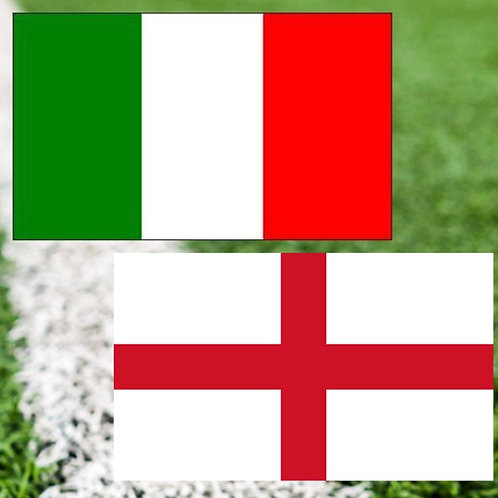 Italy v England hotel, ticket & flights