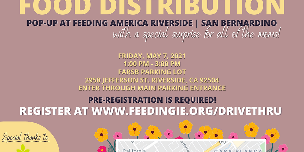 Drive-thru food distribution in Riverside