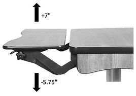 Height adjustable ADA table