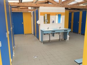 sanitaires camping le kerver