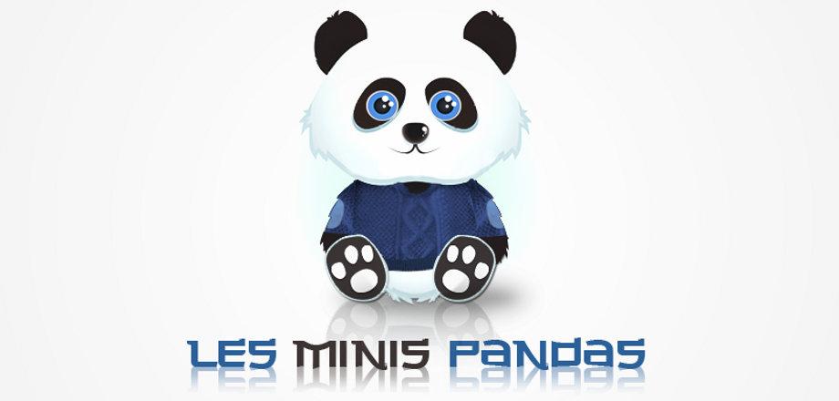 Logo pour la micro-crèche les minis pandas à cagnac les mines