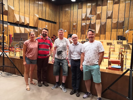Successful opera arias recording with the BSO!.