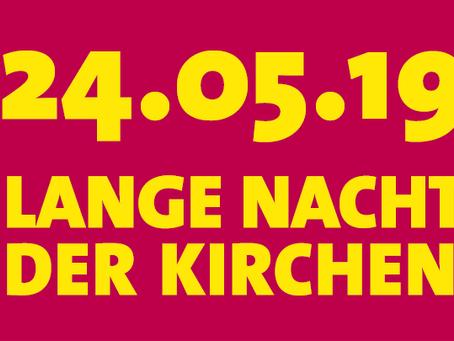 """24. May 2019 Liederabend """"Lesung mit Gesangs"""" in the context of """"Lange Nacht der Kirchen"""""""