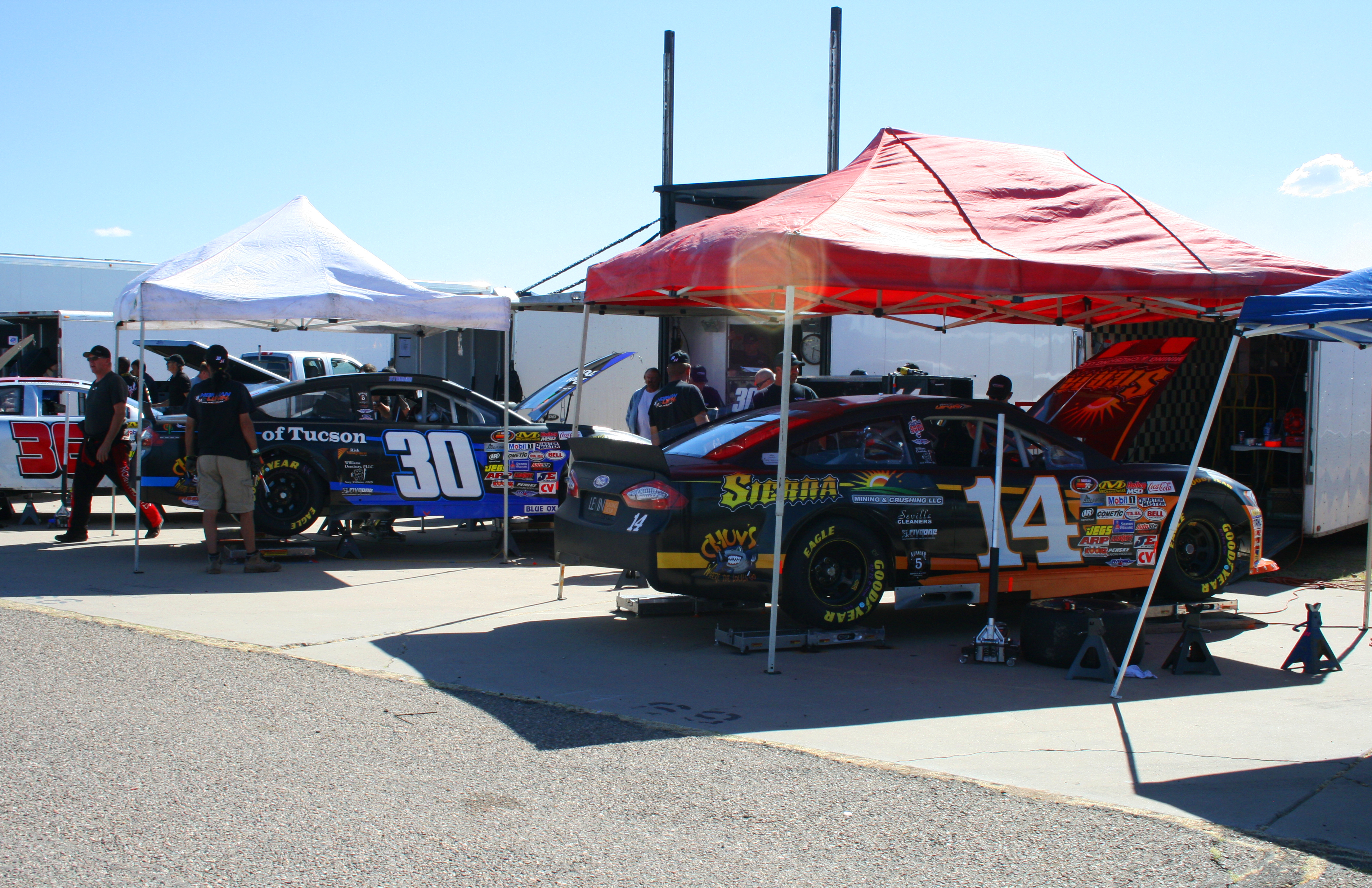30 and 14 in pits