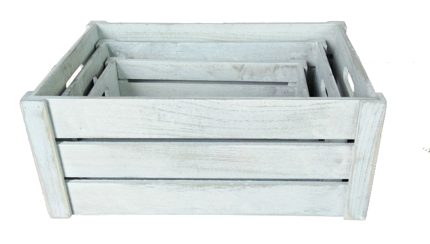 Träback med hel sida, vit