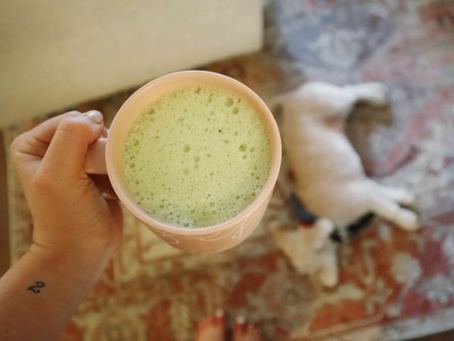 how to make an at-home matcha latte