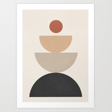 modern shape print