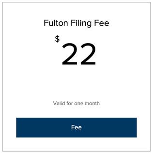 Fulton County Filing Fee