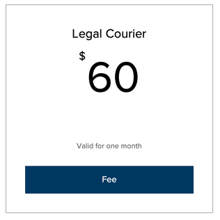 Legal Courier Fee