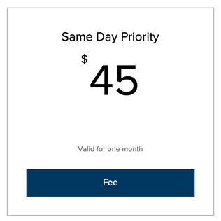 Same Day Priority Fee