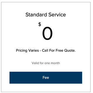 Standard Process Service Fee