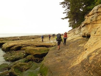 Hikers on the Juan de Fuc Trail