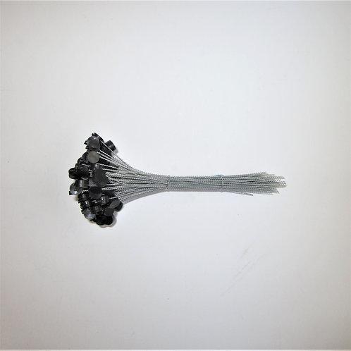 Kunststoff Expressplomben 8mm schwarz,  Draht verzinkt