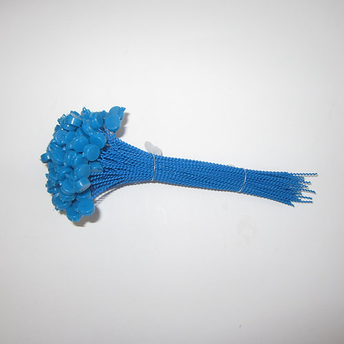 Kunststoff Expressplomben 9mm blau,  Draht blau