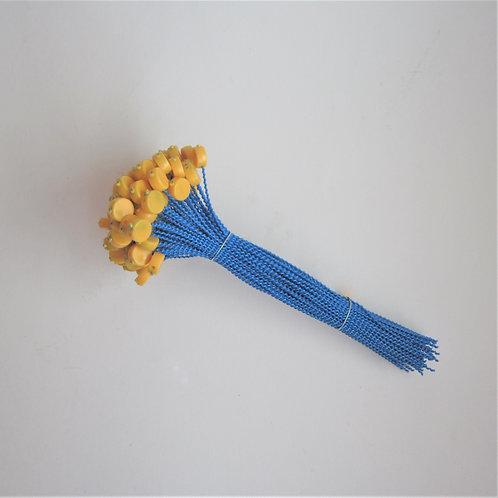 Kunststoff Expressplomben 9mm gelb,  Draht blau
