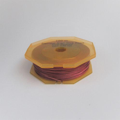Litze, Stahl verzinkt in Kunststoff 0.65mm