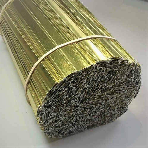 Papier Streifenverschlüsse 8mm , gold