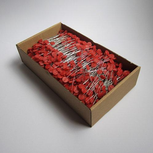 Drahtverschlüsse rot