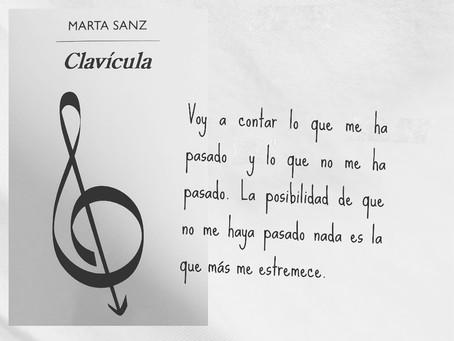 Clavícula, de Marta Sanz
