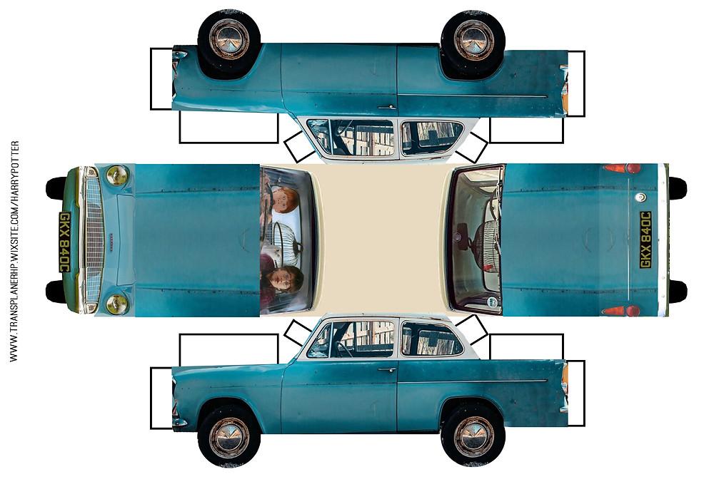 diy voiture volante harry potter à imprimer