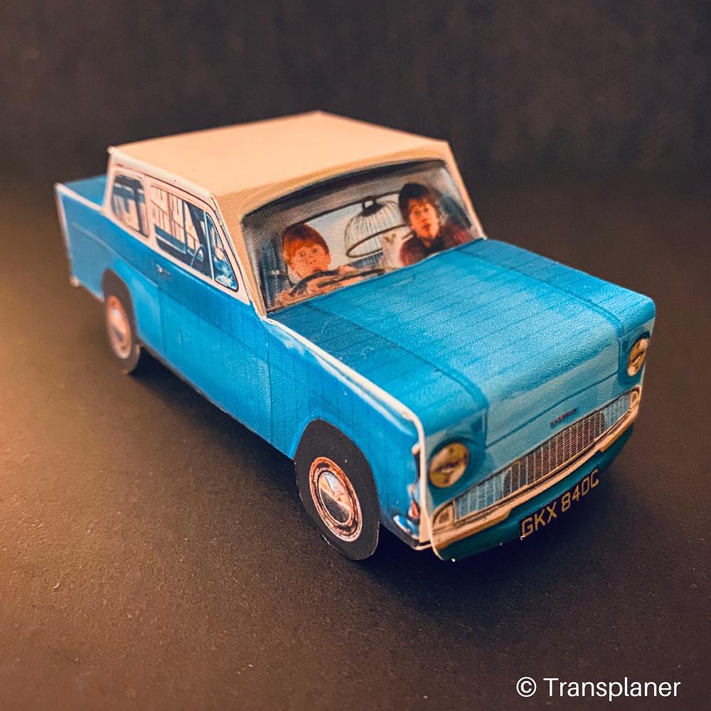 diy voiture volante ford anglia à imprimer harry potter