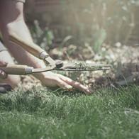 Gartenarbeit.