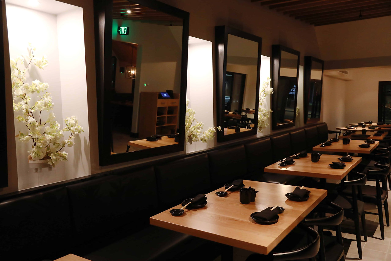 dining room at taisho japanese restauran