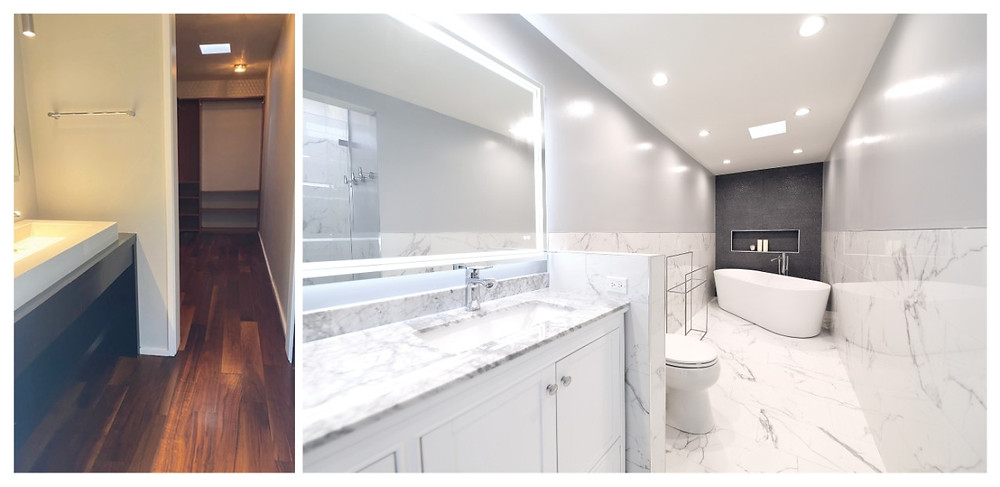 los angeles bathroom remodel before and after