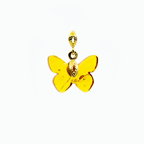 Amber Pendant - Butterfly #PEND006