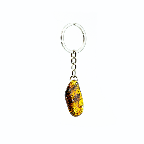 Keychain with Natural Amber
