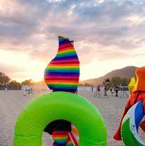 RainbowFace! on vacation