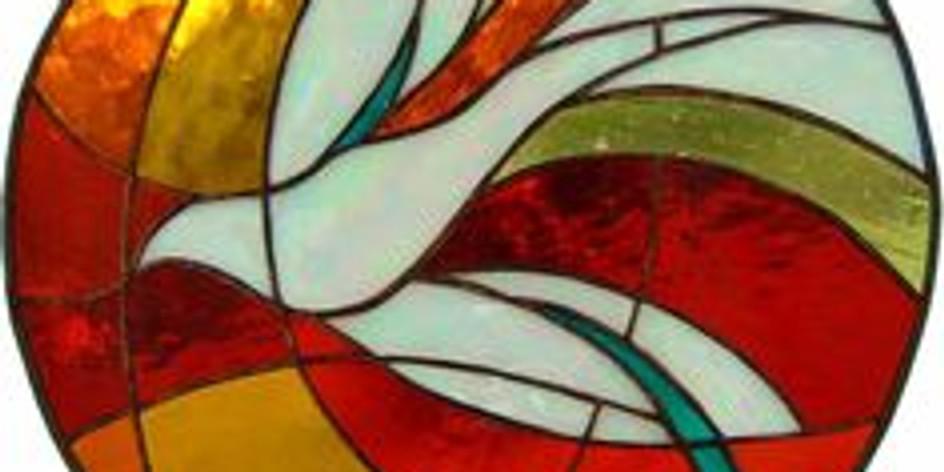 Pinkstervuur-'glas in lood' schilderij maken THUIS          (1)