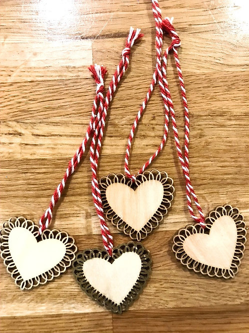Wooden Heart Decorations
