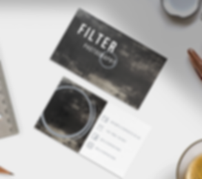 filter photography business cards