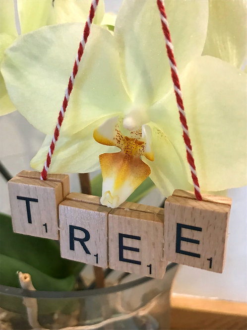 Tree Scrabble Decoration