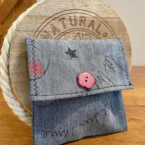 Kids mini denim purse