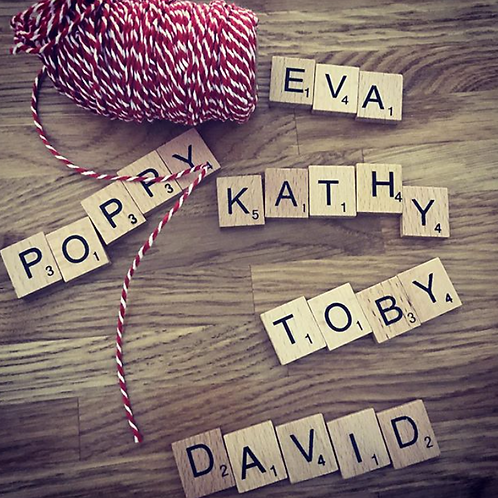 Personalised Scrabble Decorations