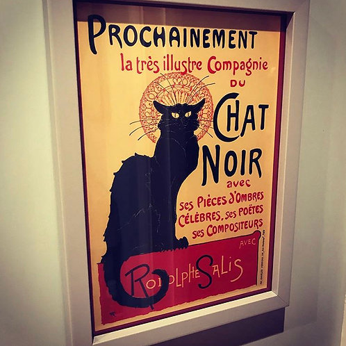 Chat Noir Print and Frame (A4)